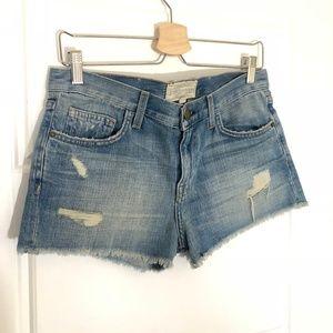 NWT Current Elliot Mylie Cutout Shorts Blue Cotton
